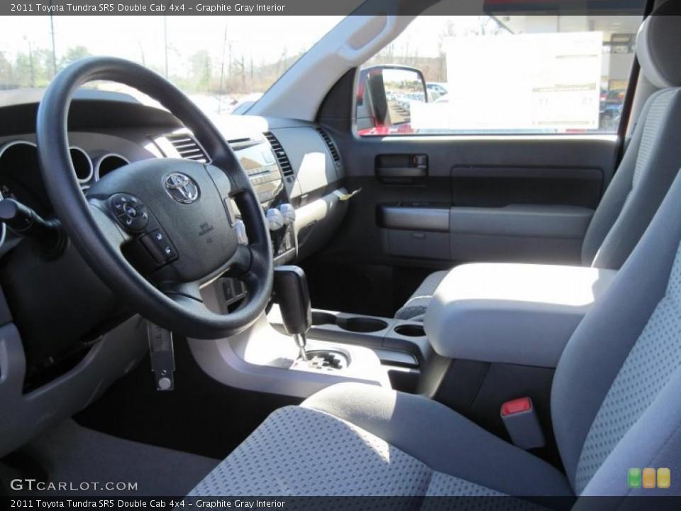 Graphite Gray Interior Photo for the 2011 Toyota Tundra SR5 Double Cab 4x4 #45052837