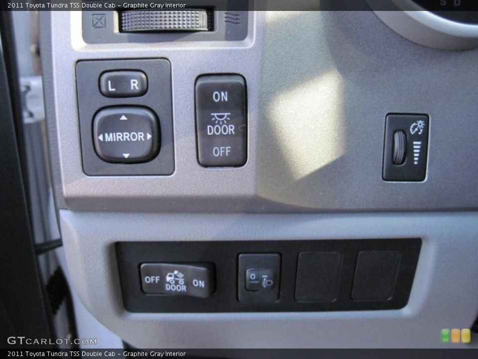 Graphite Gray Interior Controls for the 2011 Toyota Tundra TSS Double Cab #45053261