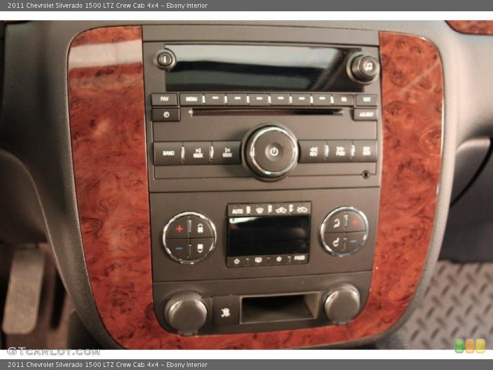 Ebony Interior Controls for the 2011 Chevrolet Silverado 1500 LTZ Crew Cab 4x4 #45106572