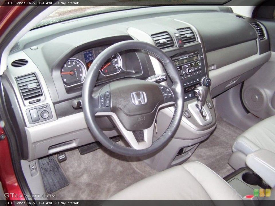 Gray Interior Prime Interior for the 2010 Honda CR-V EX-L AWD #45192745