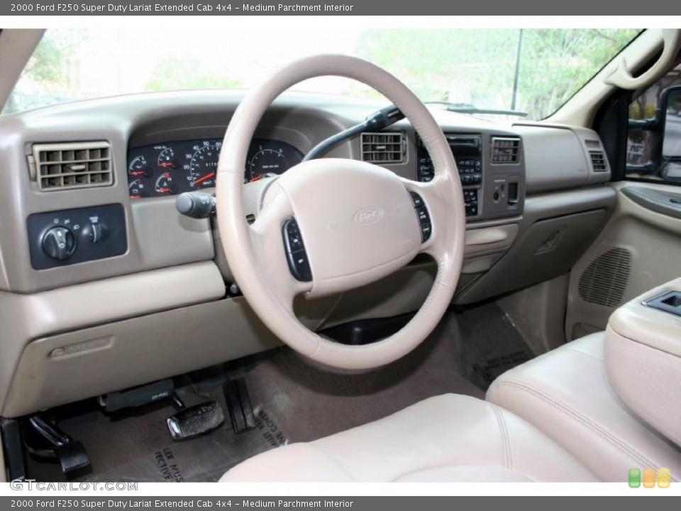 Medium Parchment 2000 Ford F250 Super Duty Interiors