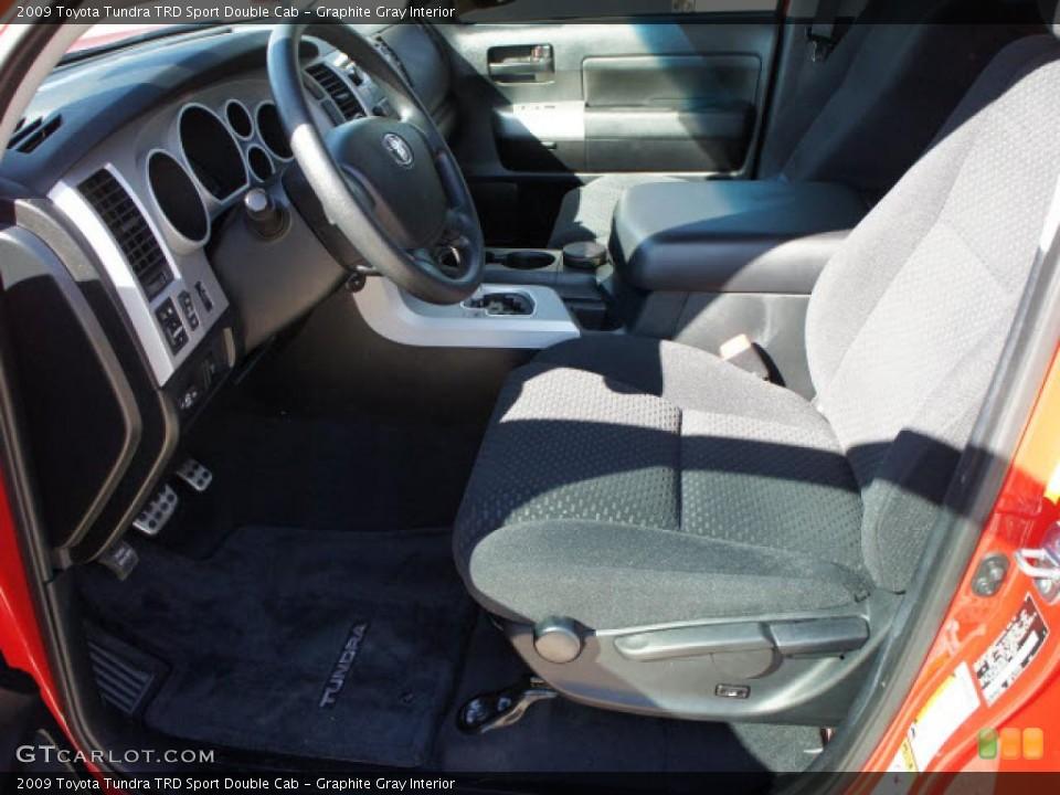Graphite Gray Interior Photo for the 2009 Toyota Tundra TRD Sport Double Cab #45262945