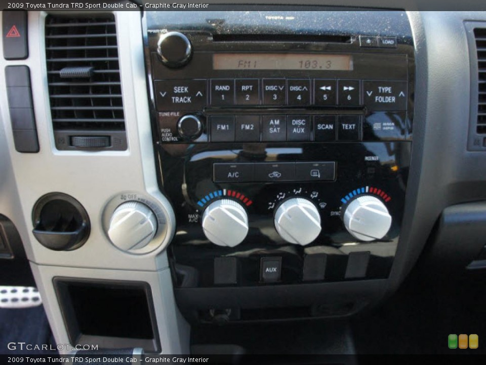 Graphite Gray Interior Controls for the 2009 Toyota Tundra TRD Sport Double Cab #45262949