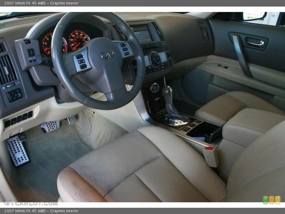 Graphite Interior Prime Interior for the 2007 Infiniti FX 45 AWD #45278285