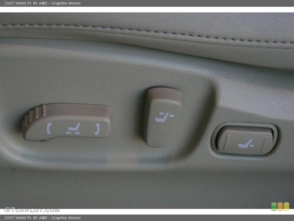 Graphite Interior Controls for the 2007 Infiniti FX 45 AWD #45278293