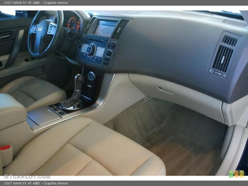 Graphite Interior Dashboard for the 2007 Infiniti FX 45 AWD #45278401