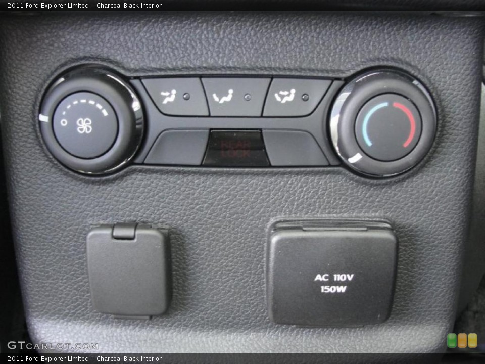 Charcoal Black Interior Controls for the 2011 Ford Explorer Limited #45370066