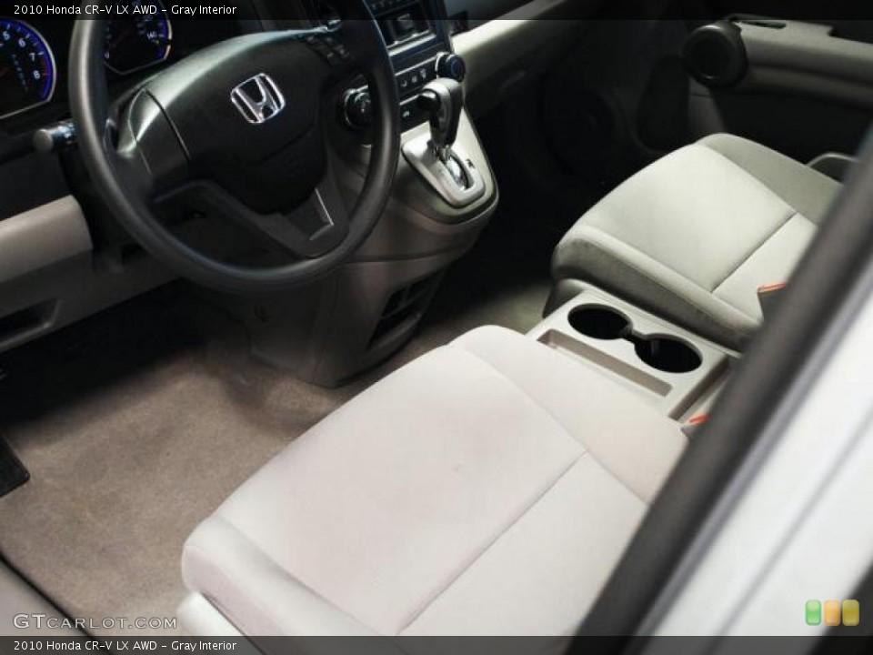 Gray Interior Photo for the 2010 Honda CR-V LX AWD #45399210