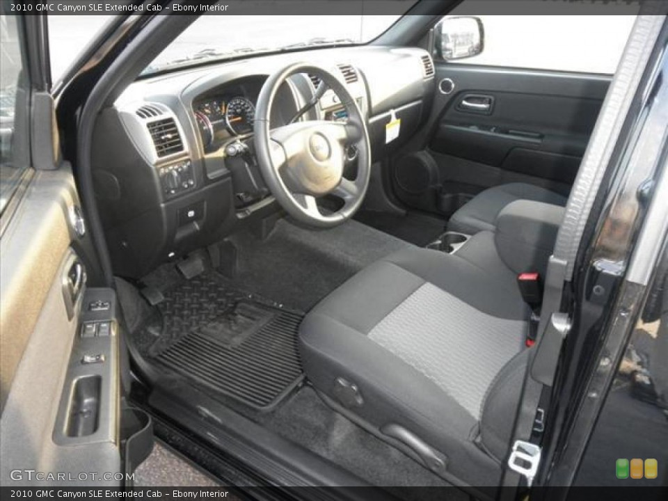 Ebony Interior Prime Interior for the 2010 GMC Canyon SLE Extended Cab #45481723
