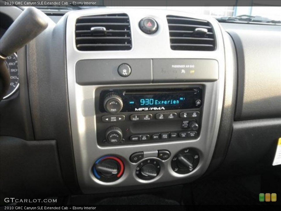 Ebony Interior Controls for the 2010 GMC Canyon SLE Extended Cab #45481731