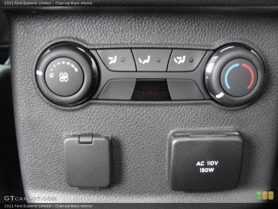 Charcoal Black Interior Controls for the 2011 Ford Explorer Limited #45538804