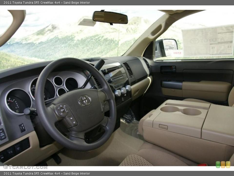 Sand Beige Interior Photo for the 2011 Toyota Tundra SR5 CrewMax 4x4 #45574838