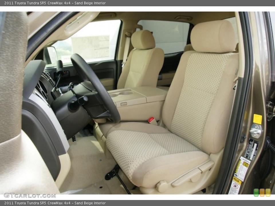 Sand Beige Interior Photo for the 2011 Toyota Tundra SR5 CrewMax 4x4 #45574842