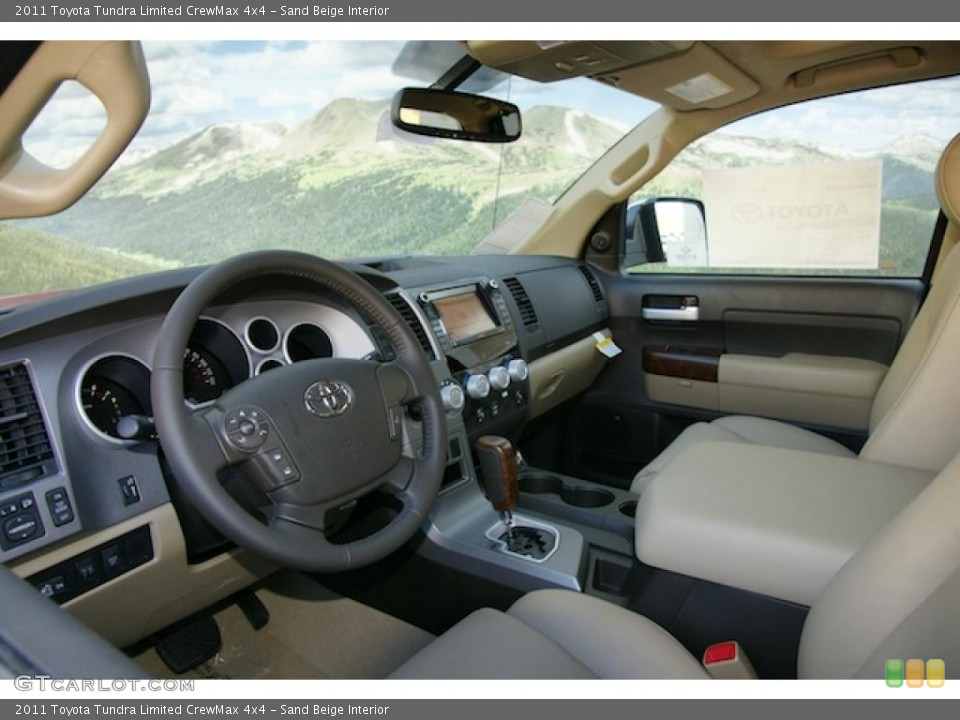 Sand Beige Interior Photo for the 2011 Toyota Tundra Limited CrewMax 4x4 #45575694