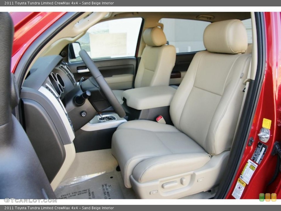 Sand Beige Interior Photo for the 2011 Toyota Tundra Limited CrewMax 4x4 #45575702