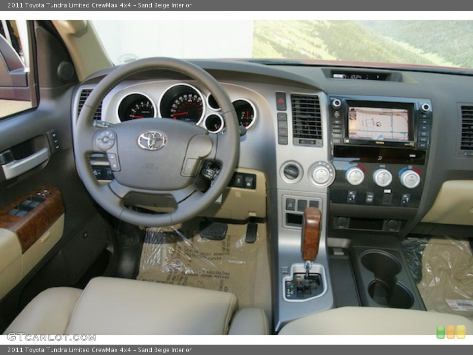 Sand Beige Interior Dashboard for the 2011 Toyota Tundra Limited CrewMax 4x4 #45575726