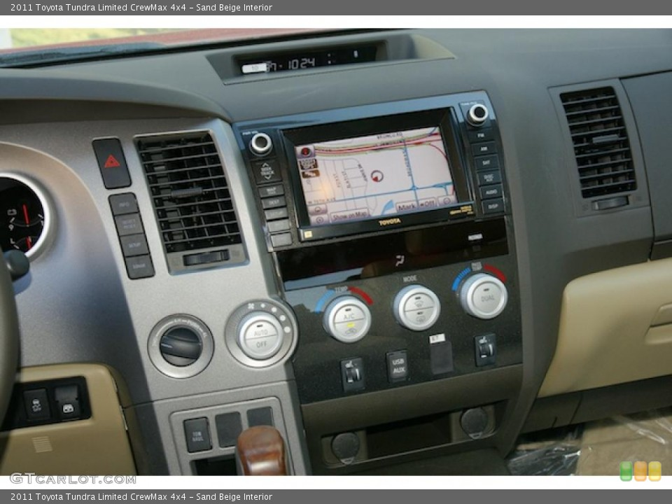 Sand Beige Interior Navigation for the 2011 Toyota Tundra Limited CrewMax 4x4 #45575734
