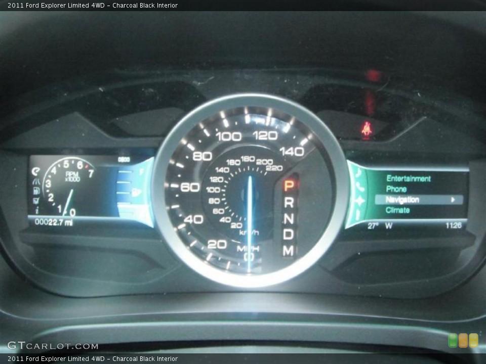 Charcoal Black Interior Gauges for the 2011 Ford Explorer Limited 4WD #45619220