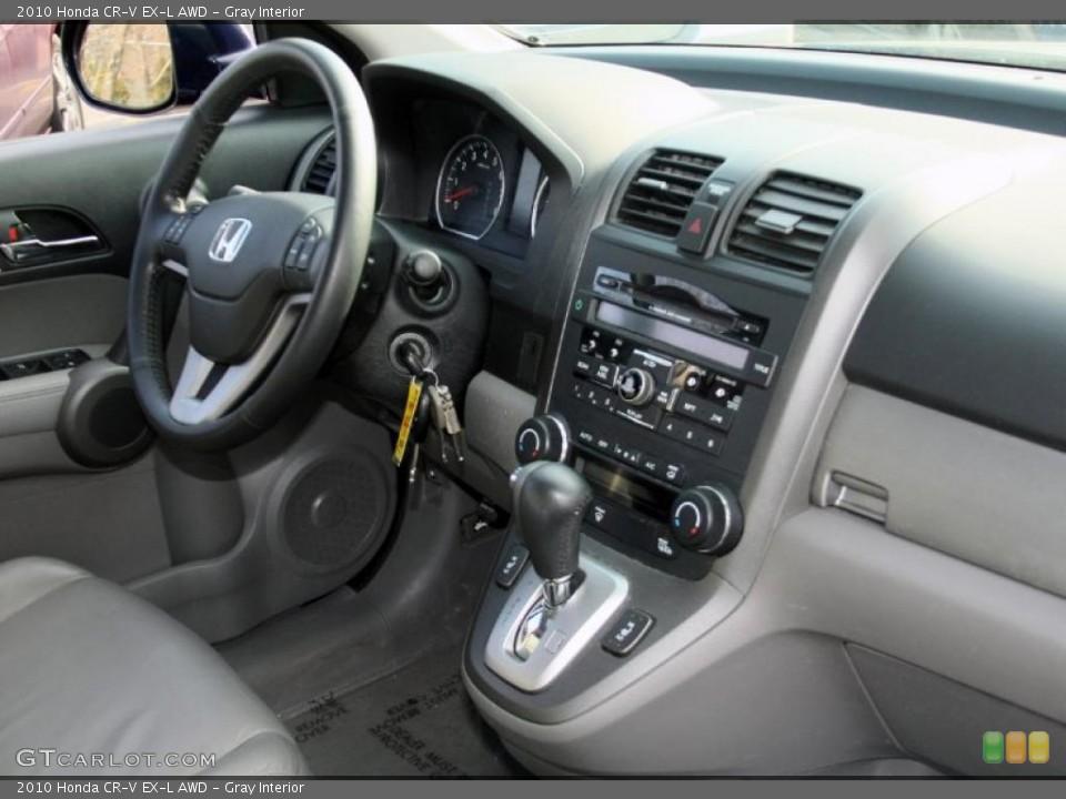 Gray Interior Dashboard for the 2010 Honda CR-V EX-L AWD #45625566