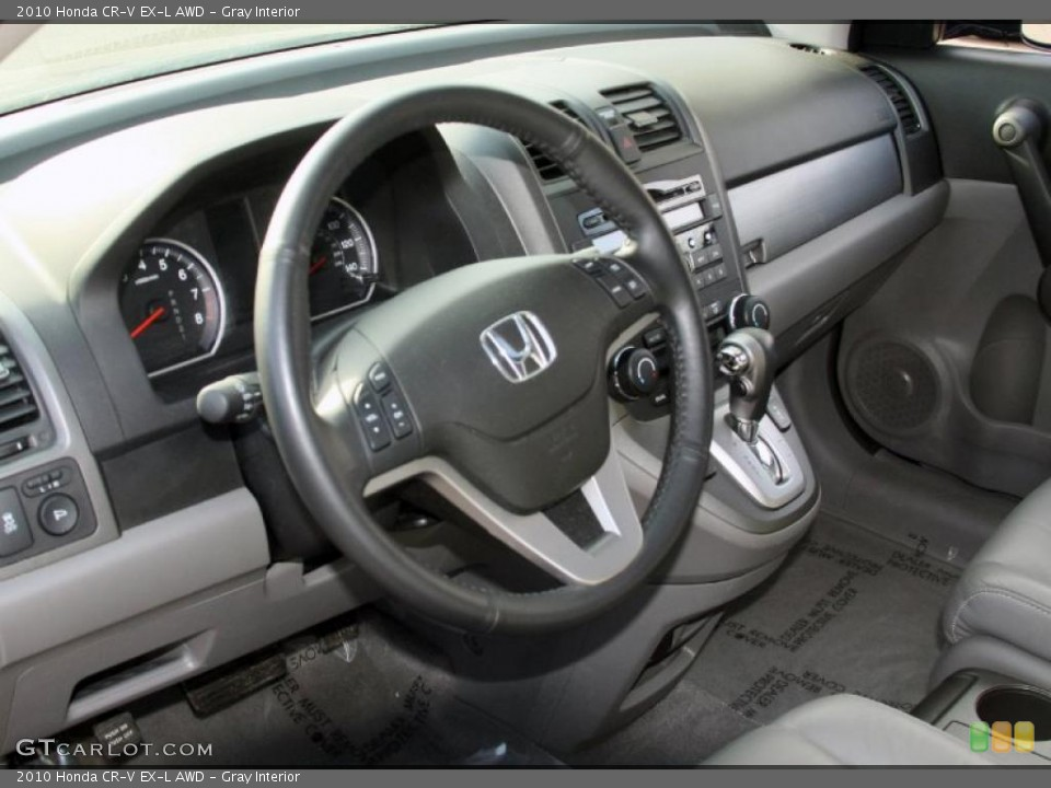 Gray Interior Dashboard for the 2010 Honda CR-V EX-L AWD #45625582