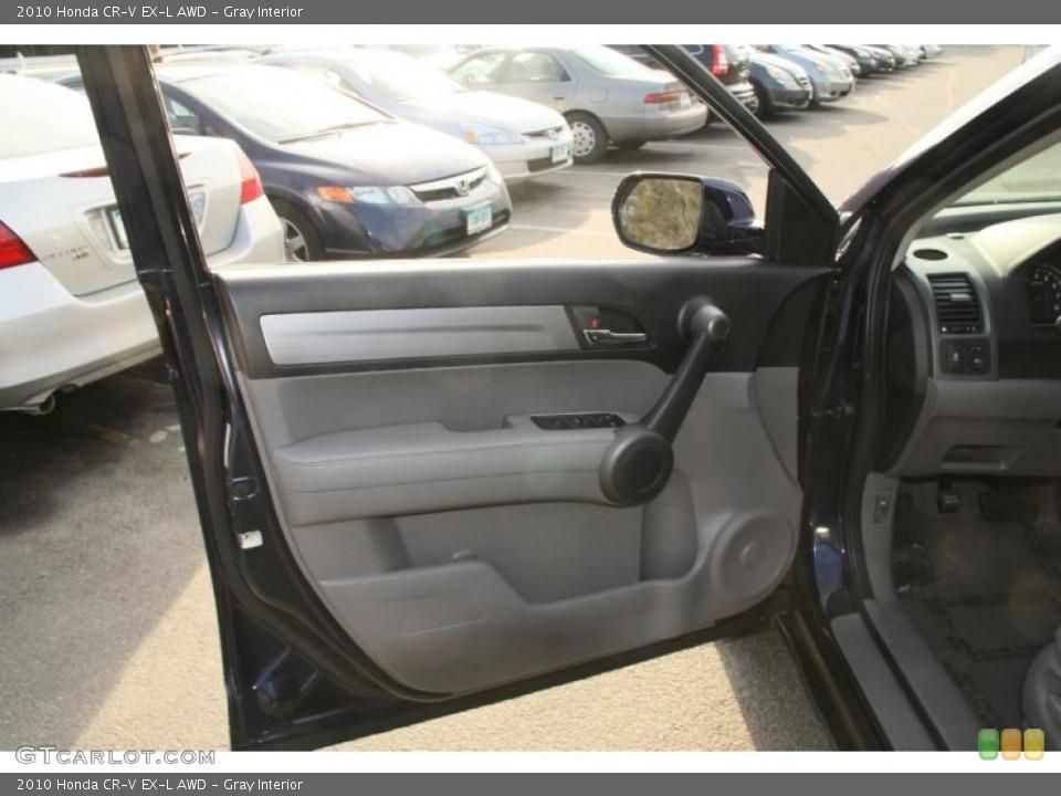 Gray Interior Door Panel for the 2010 Honda CR-V EX-L AWD #45625594