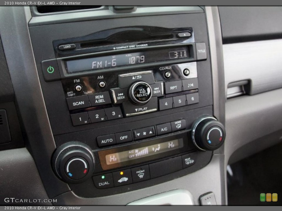 Gray Interior Controls for the 2010 Honda CR-V EX-L AWD #45625706