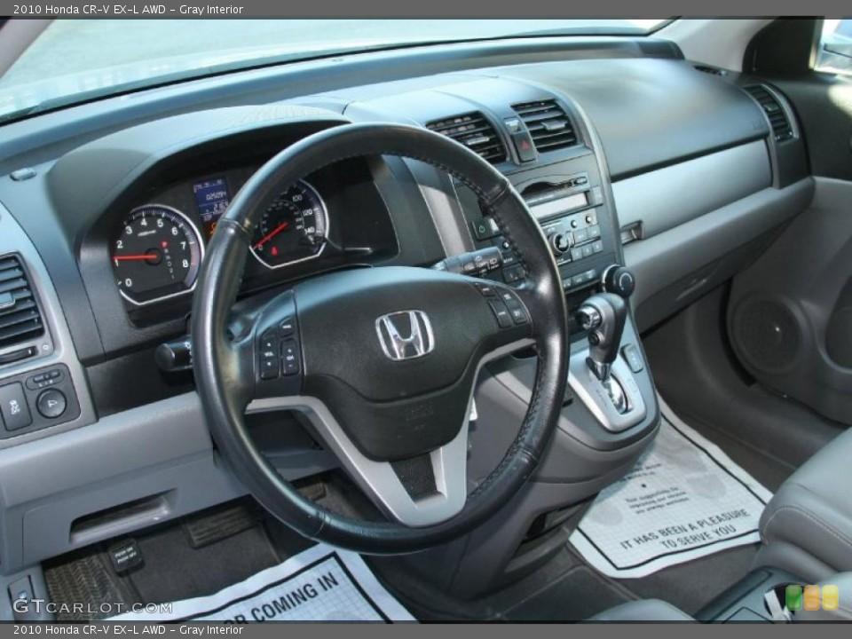 Gray Interior Dashboard for the 2010 Honda CR-V EX-L AWD #45634129