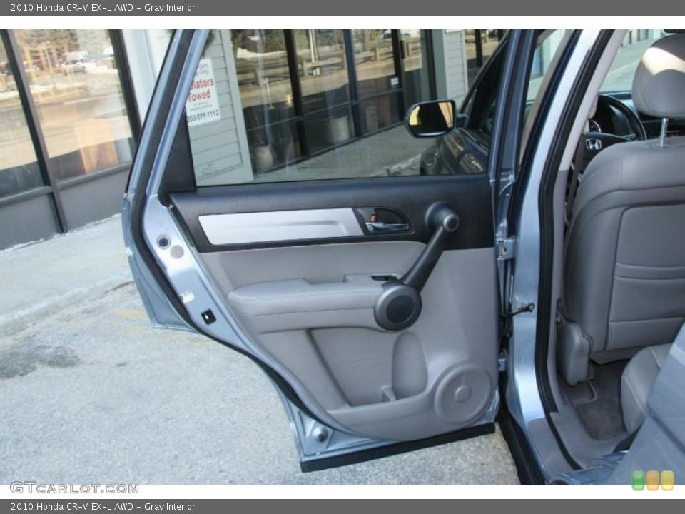 Gray Interior Door Panel for the 2010 Honda CR-V EX-L AWD #45634145