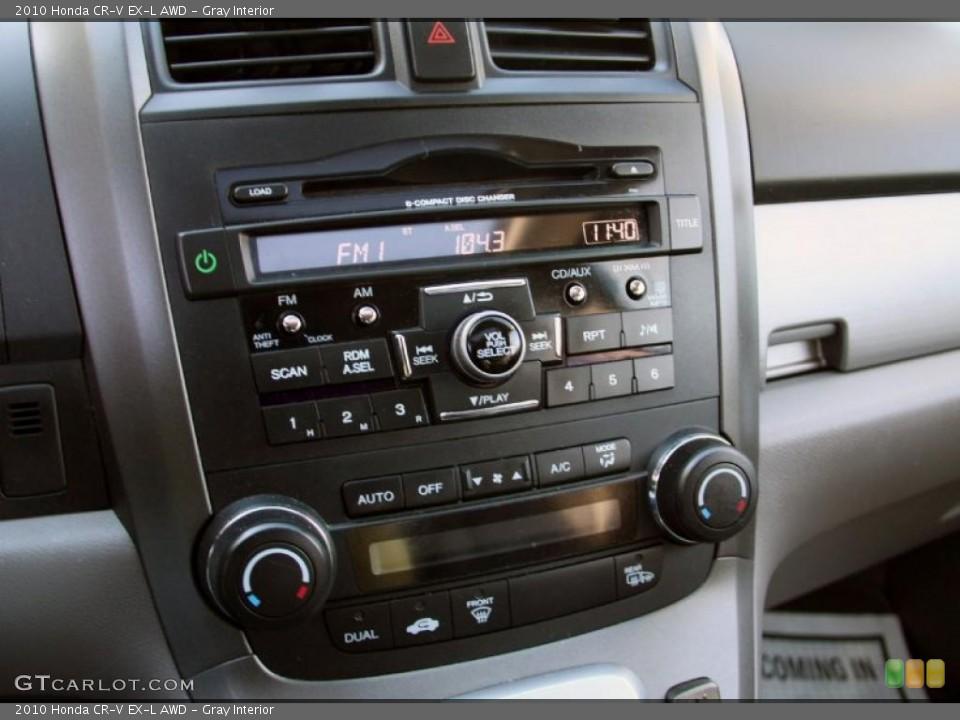 Gray Interior Controls for the 2010 Honda CR-V EX-L AWD #45634213