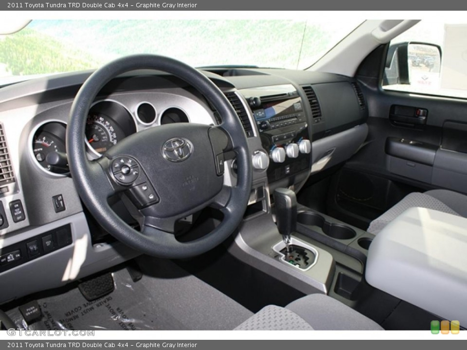 Graphite Gray Interior Photo for the 2011 Toyota Tundra TRD Double Cab 4x4 #45702721
