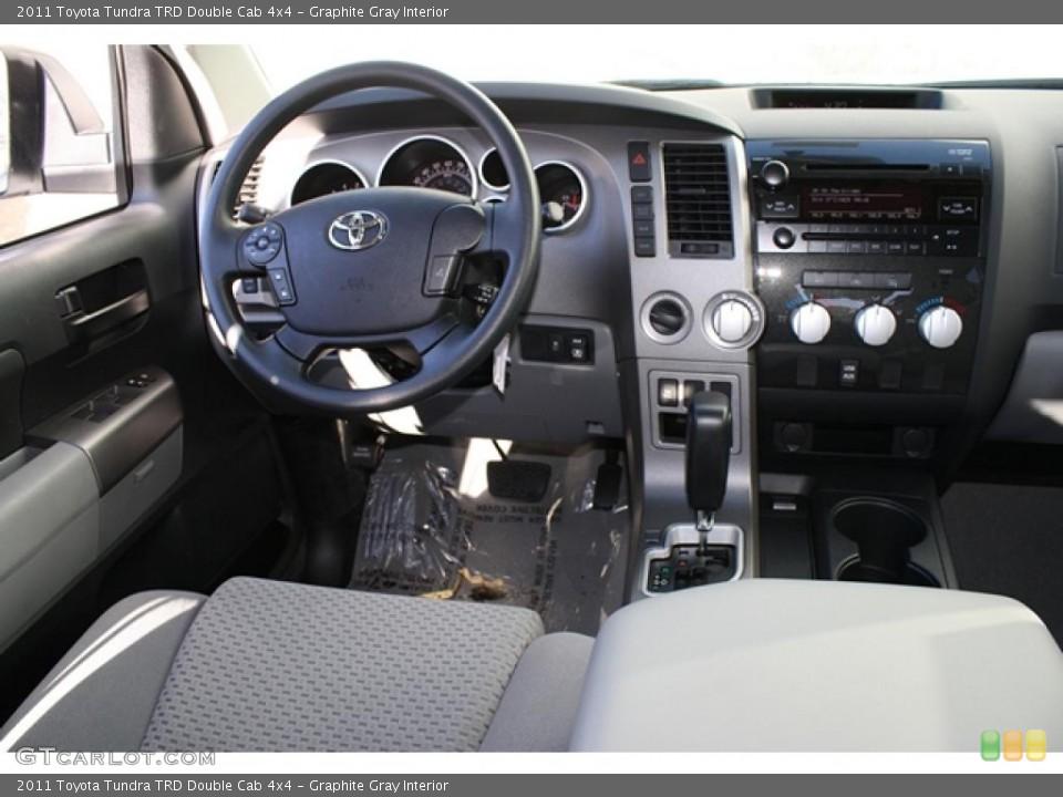 Graphite Gray Interior Dashboard for the 2011 Toyota Tundra TRD Double Cab 4x4 #45702733