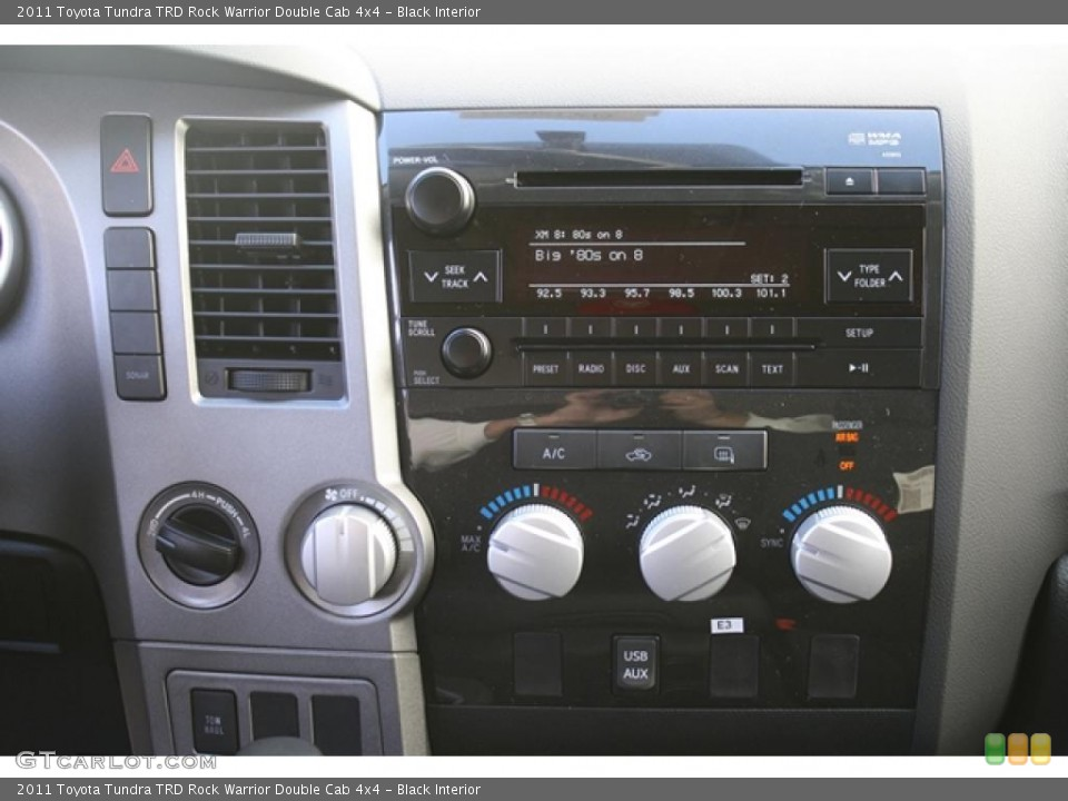 Black Interior Controls for the 2011 Toyota Tundra TRD Rock Warrior Double Cab 4x4 #45703205