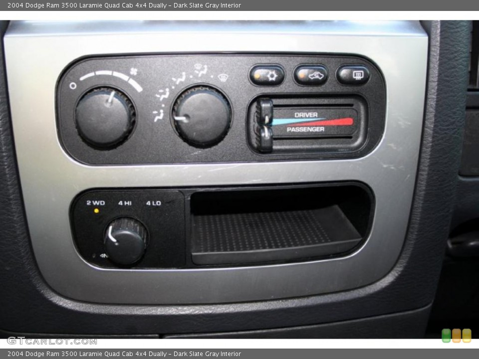 Dark Slate Gray Interior Controls for the 2004 Dodge Ram 3500 Laramie Quad Cab 4x4 Dually #45741750