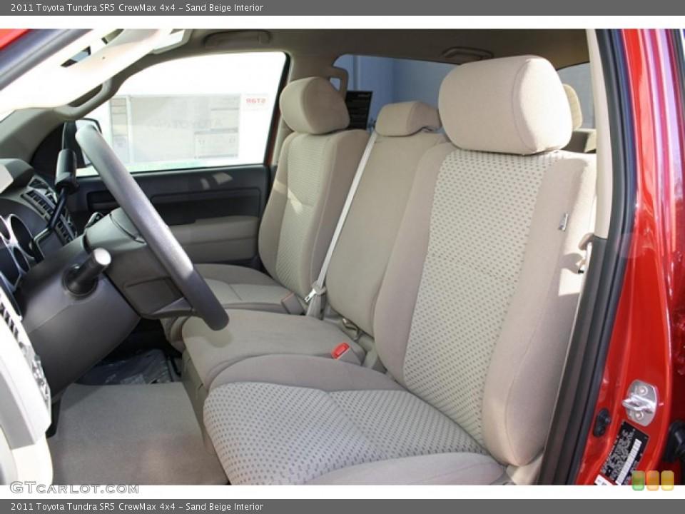 Sand Beige Interior Photo for the 2011 Toyota Tundra SR5 CrewMax 4x4 #45749022