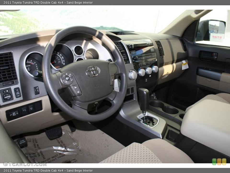 Sand Beige Interior Photo for the 2011 Toyota Tundra TRD Double Cab 4x4 #45749098