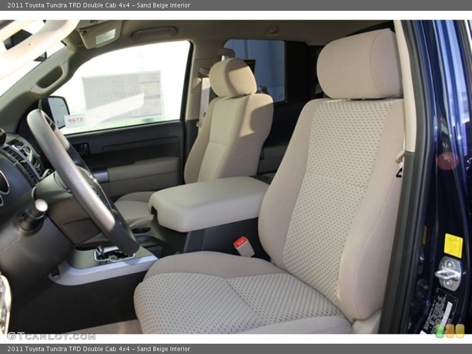 Sand Beige Interior Photo for the 2011 Toyota Tundra TRD Double Cab 4x4 #45749102