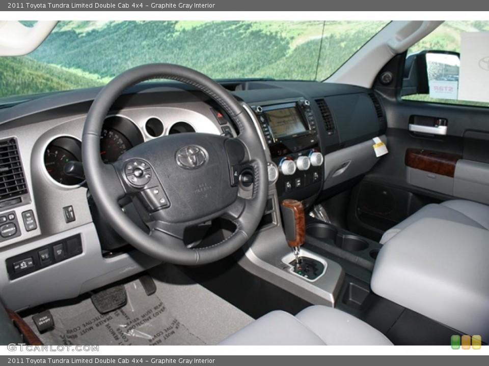 Graphite Gray Interior Prime Interior for the 2011 Toyota Tundra Limited Double Cab 4x4 #45749134