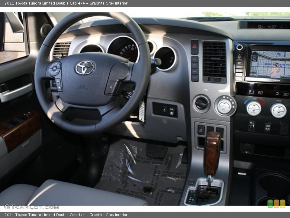 Graphite Gray Interior Dashboard for the 2011 Toyota Tundra Limited Double Cab 4x4 #45749146