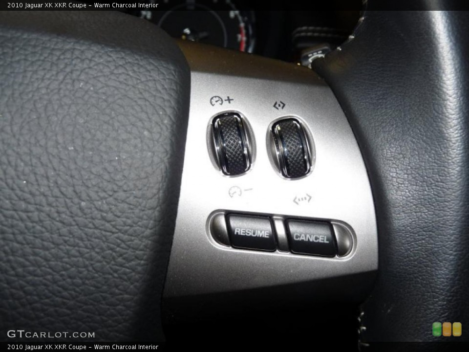 Warm Charcoal Interior Controls for the 2010 Jaguar XK XKR Coupe #45753694