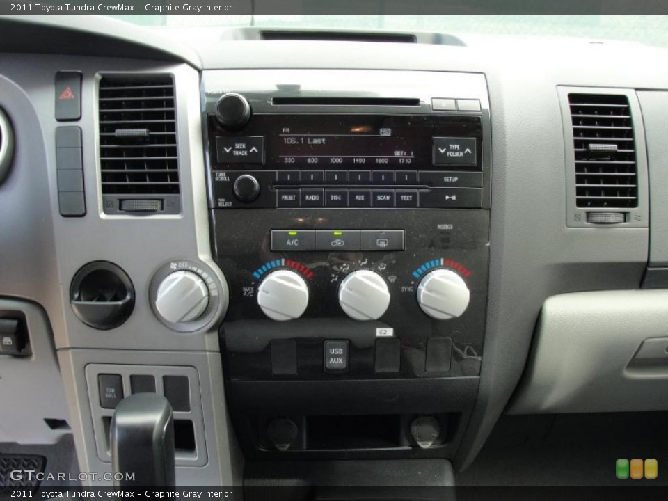 Graphite Gray Interior Controls for the 2011 Toyota Tundra CrewMax #45776808