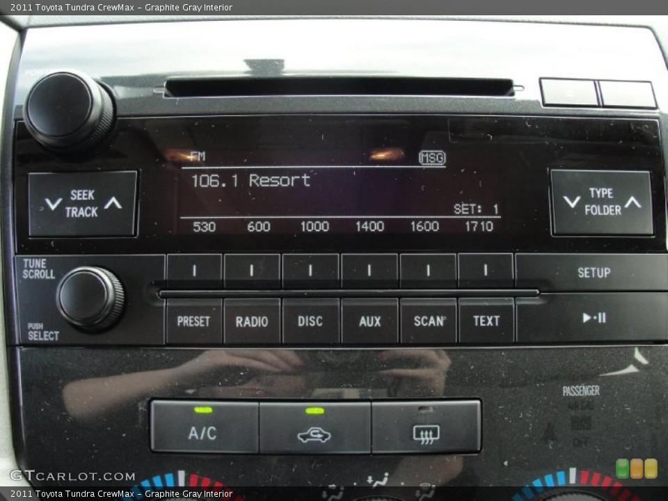 Graphite Gray Interior Controls for the 2011 Toyota Tundra CrewMax #45776836