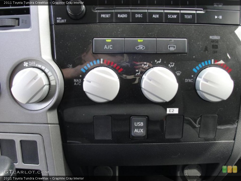 Graphite Gray Interior Controls for the 2011 Toyota Tundra CrewMax #45776852