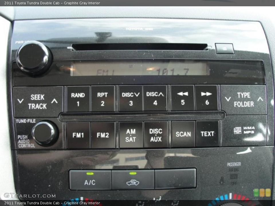 Graphite Gray Interior Controls for the 2011 Toyota Tundra Double Cab #45777424