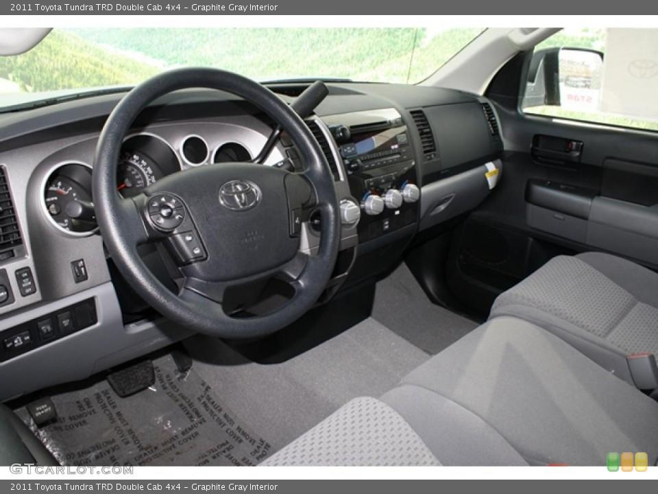 Graphite Gray Interior Photo for the 2011 Toyota Tundra TRD Double Cab 4x4 #45794399