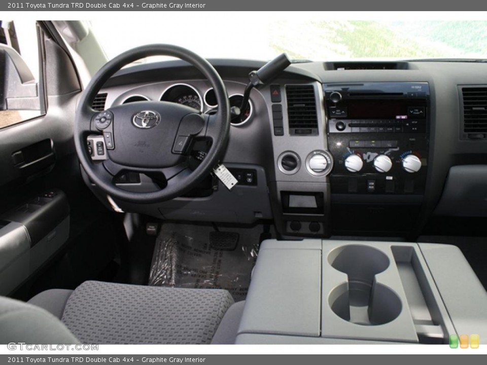Graphite Gray Interior Dashboard for the 2011 Toyota Tundra TRD Double Cab 4x4 #45794631