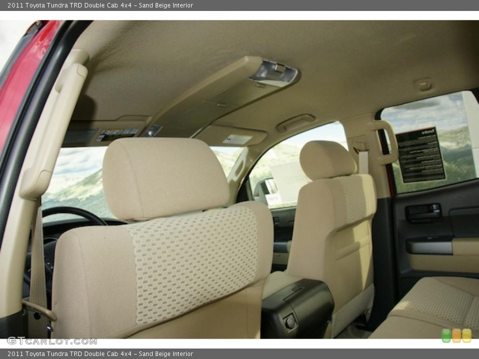 Sand Beige Interior Photo for the 2011 Toyota Tundra TRD Double Cab 4x4 #45796547