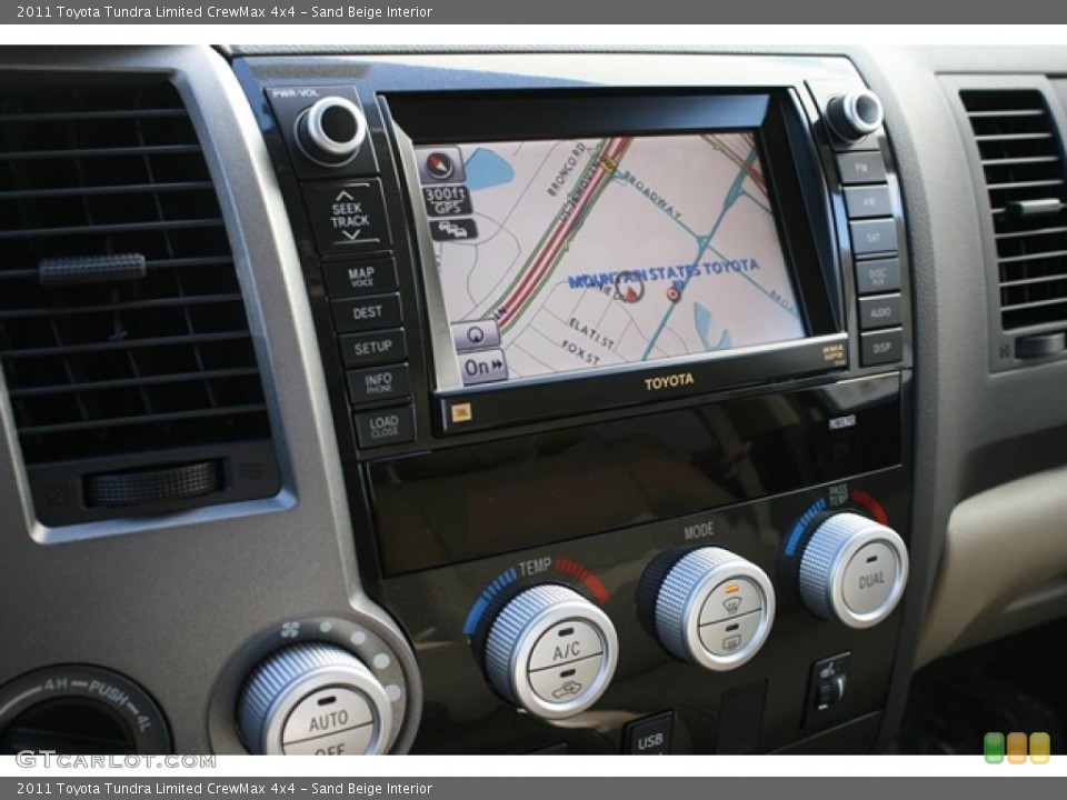 Sand Beige Interior Navigation for the 2011 Toyota Tundra Limited CrewMax 4x4 #45801485
