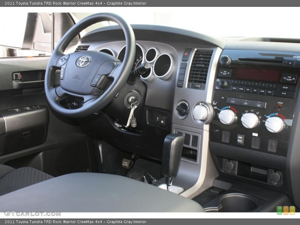 Graphite Gray Interior Dashboard for the 2011 Toyota Tundra TRD Rock Warrior CrewMax 4x4 #45802473