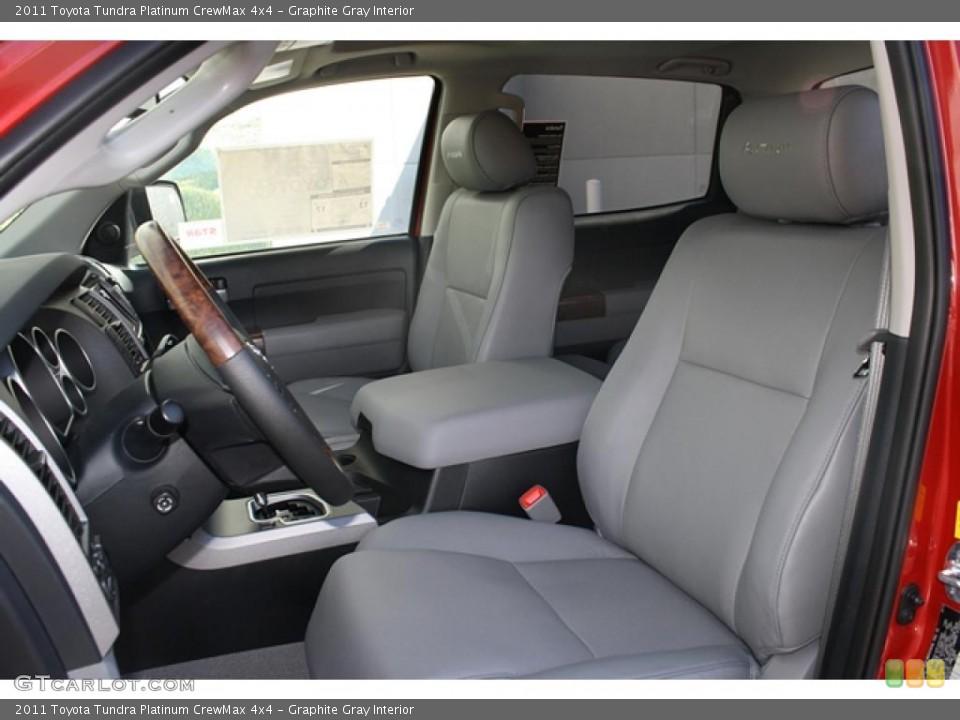Graphite Gray Interior Photo for the 2011 Toyota Tundra Platinum CrewMax 4x4 #45802785