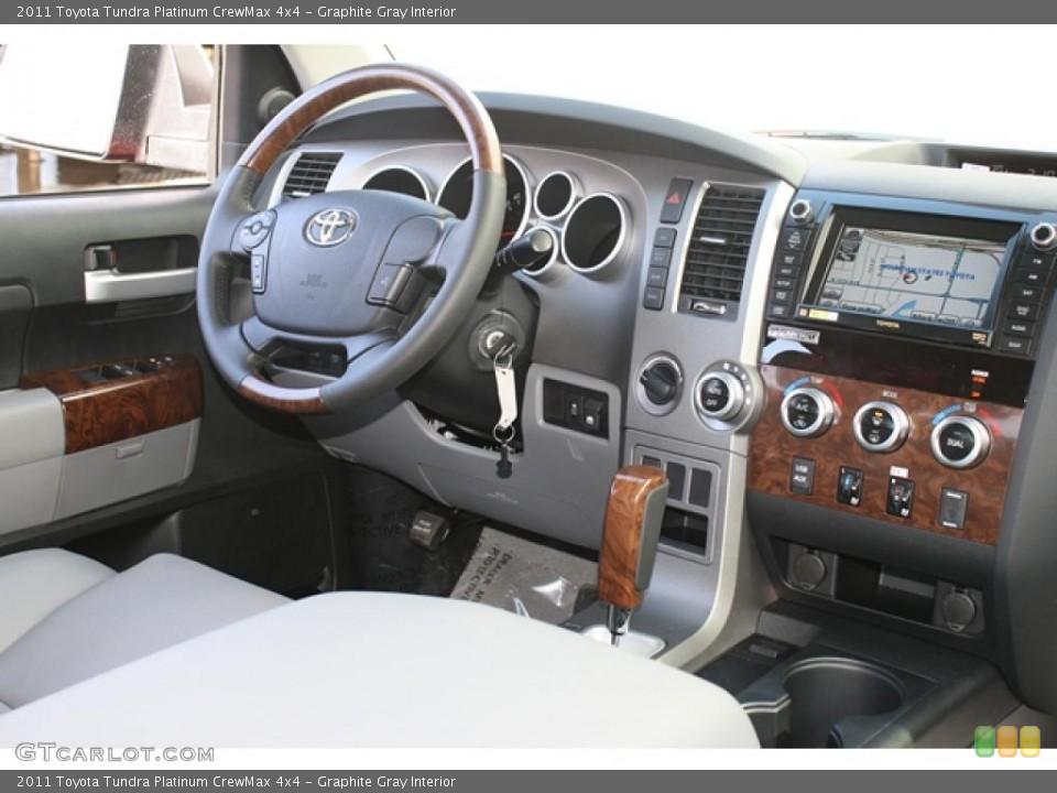 Graphite Gray Interior Dashboard for the 2011 Toyota Tundra Platinum CrewMax 4x4 #45802817